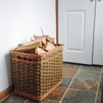 sturdy wicker log basket