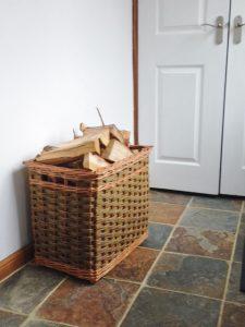 sturdy wicker log basket
