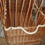 rope handles on basket