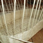 moses basket in white willow