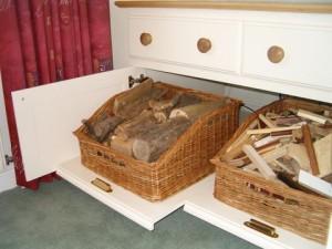 custom made log baskets