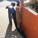 vintage car umbrella basket