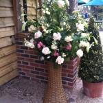 custom made wedding flower basket
