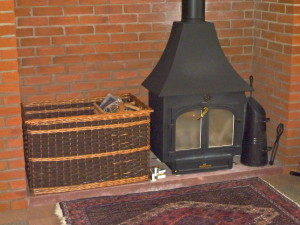 custom made log basket