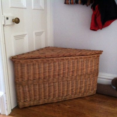 wicker corner hamper made in uk