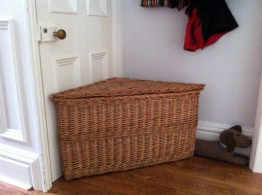 wicker corner hamper made in uk
