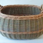 oval log basket made in uk