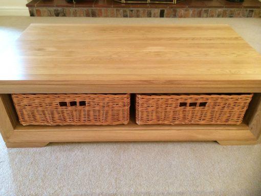 custom made basket in buff willow