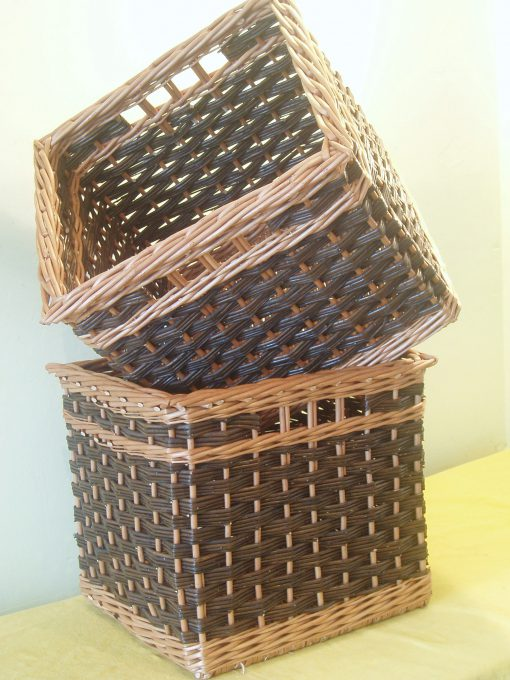 custom made basket slewed weave