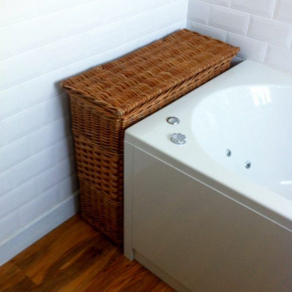 Narrow Bathroom Basket With Lid Wicker Baskets