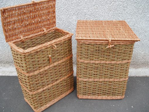 wicker hamper tall made in uk