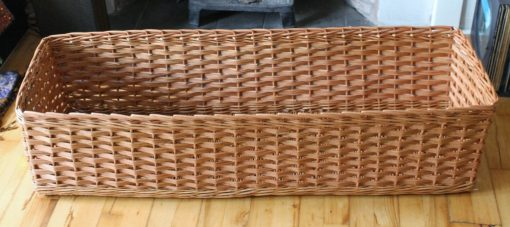 custom made basket in buff willow