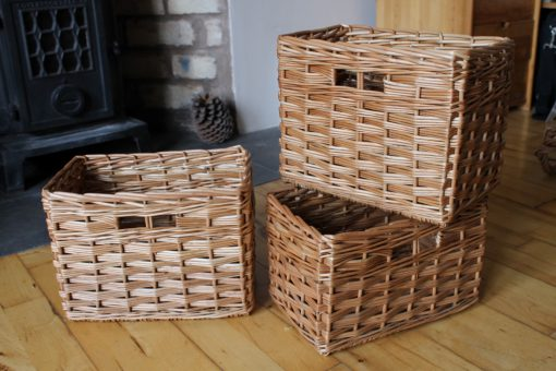 custom made baskets in buff willow
