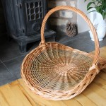large round flower basket