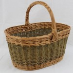 oval shopping basket wicker