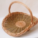 round willow flower basket