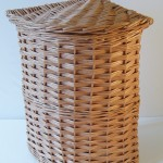 corner linen basket made in uk