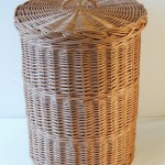 round wicker linen basket made in uk
