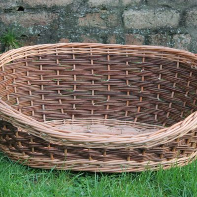 oval dog basket made in uk