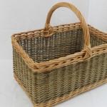 willow shopping basket made in uk