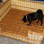 extra large rectangular dog basket made in uk
