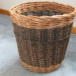 willow waste paper basket