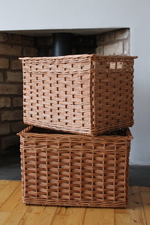 custom made baskets slewed weave