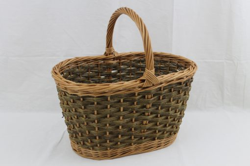 oval shopping basket in willow