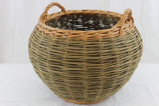 contemporary barrel log basket made in uk