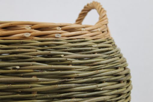 contemporary barrel log basket