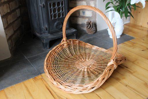 large willow flower basket