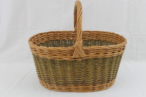 wicker shopping basket made in uk