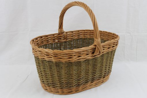 fairstead shopper in buff and green willow