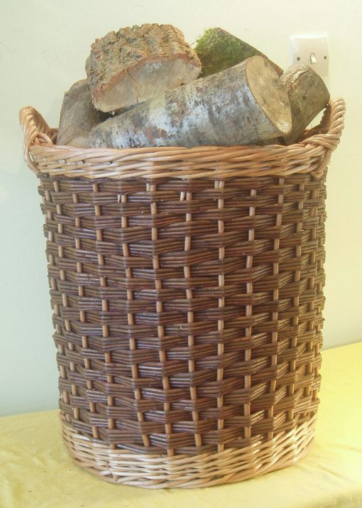 round log basket - straight sided
