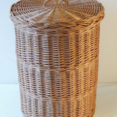 round willow linen basket made in uk