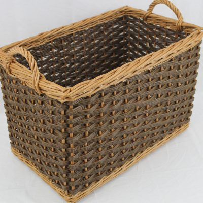 rectangular log basket made in uk