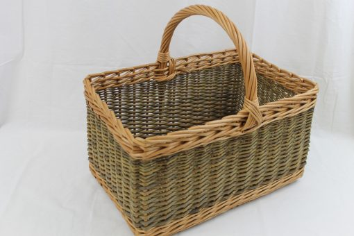 rectangular shopping basket in willow