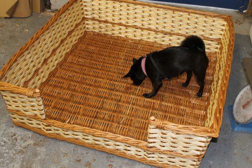 extra large rectangular dog basket made in uk