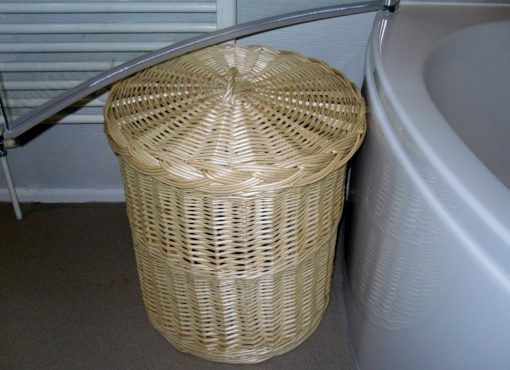 bespoke willow linen basket
