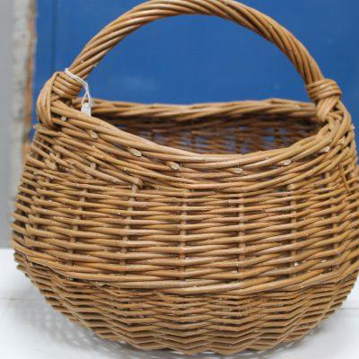 round willow shopping basket