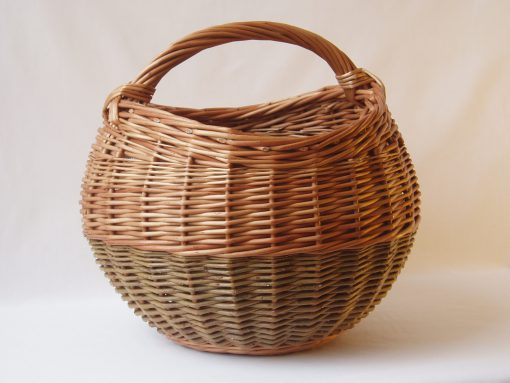round wicker shopping basket