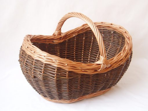 willow shopping basket made in uk