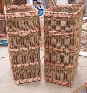custom made willow basket made in uk