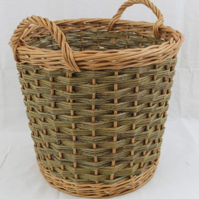 tapered round log basket made in uk