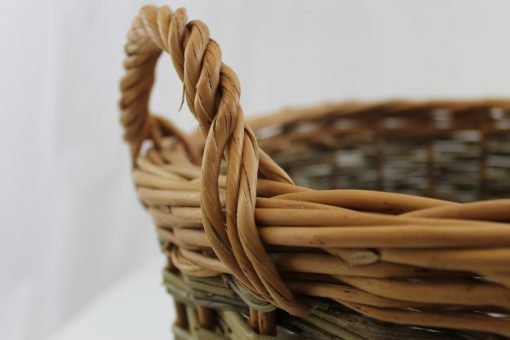 round log basket willow