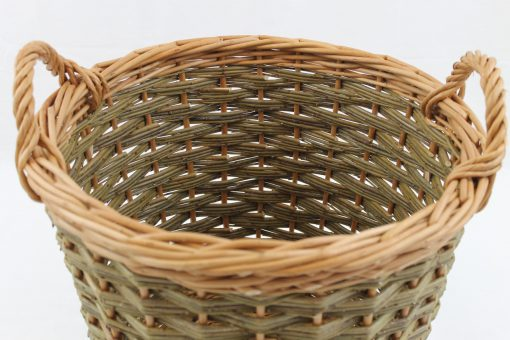 tapered round log basket