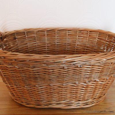 buff willow washing basket made in uk