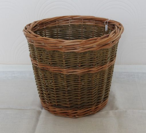 wicker waste paper basket made in uk