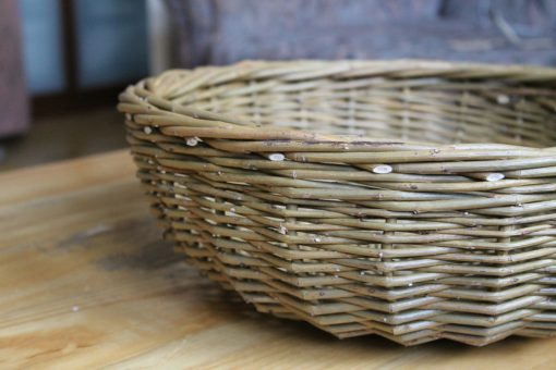 fruit basket in green willow