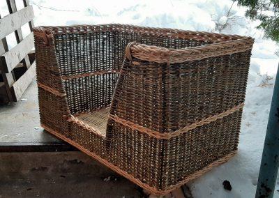custom log basket